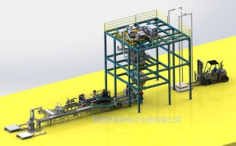 水溶肥全自动配料混合包装码垛成套生产线