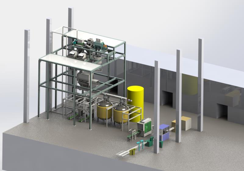 合肥固液水溶肥全自动生产线