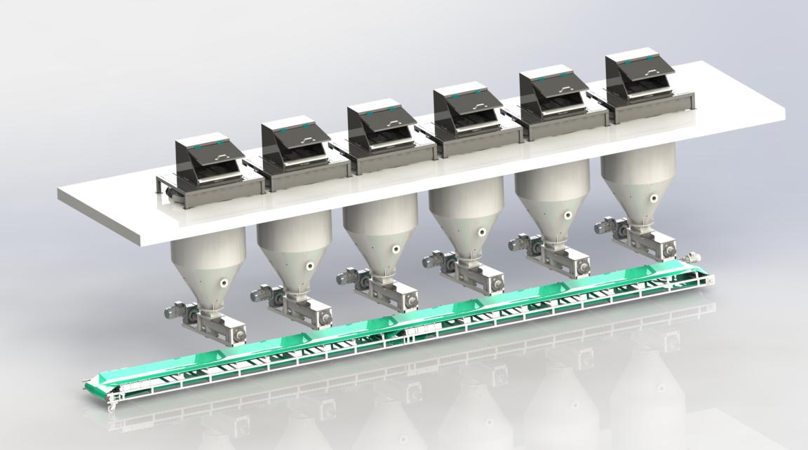 粉剂减量式自动配料系统