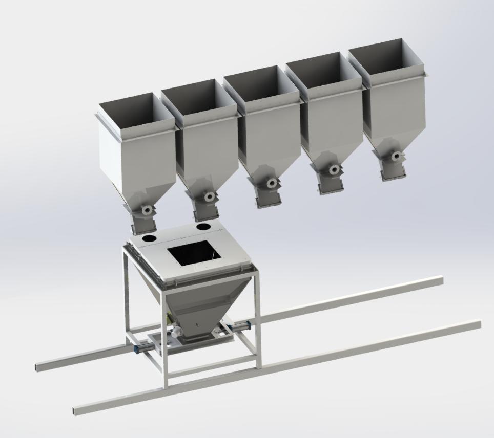 颗粒料移动式配料系统
