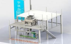 江西半自动立体式水溶肥生产线