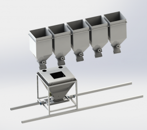 合肥颗粒料移动式配料系统